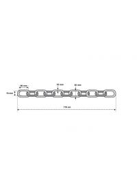 Låskätting i klass 3  ABUS 10 KS - 110 cm