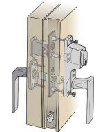 Komplett handtagspaket ASSA till altandörr med kopplad båge - Låsbart från in- och utsidan
