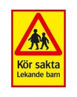 Kör sakta - Lekande barn
