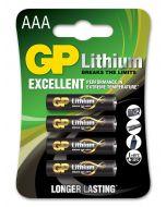 Lithiumbatteri GP Batteries AAA - 4-pack
