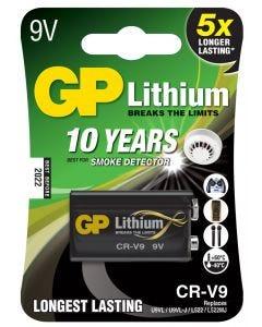 10-års batteri till brandvarnare GP Lithium 9V
