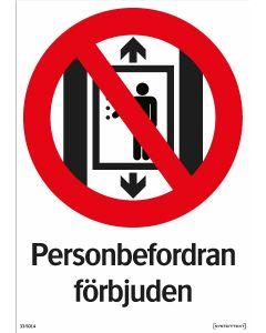 Personbefordran förbjuden