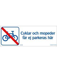 Cyklar och mopeder får ej parkera här