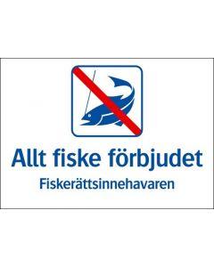 Allt fiske förbjudet