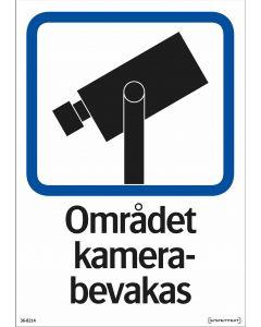 """Trivsel- och ordningsskylt """"Området kamerabevakas"""" hårdplast"""