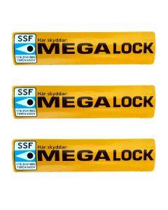 3 extra bildekaler Megalock