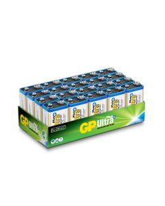 Engångsbatteri GP Ultra Plus 9V / 6LF22 20-pack