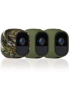 Silikonfodral kamouflag/grön till Arlo Pro 2 kameror - 3-pack