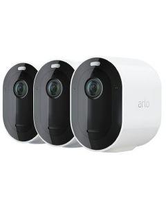 Trådlöst videoövervakningssystem Arlo Pro 4 - Startpaket med 3 kameror - Vit