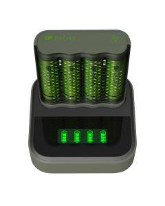 Laddstation GP ReCyko med 1 st batteriladdare och 4 st batterier