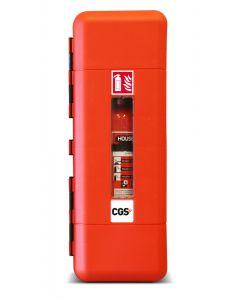 Brandsläckarskåp CGS för stora pulver-, skum- och koldioxidsläckare