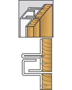 Brytskydd C-Profilen typ UB (utåtgående, bred karm) - Vit