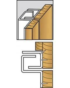 Brytskydd C-Profilen typ US 2115 mm (utåtgående, smal karm) - Vit