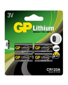 Lithiumbatteri GP Lithium CR 123A - 4-pack