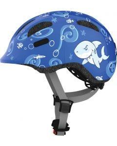 Cykelhjälm för barn med grönt spänne - ABUS SMILEY 2.0 - Blue Sharky