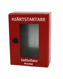Defibrillatorskåp IP-65 med larm Första hjälpencentrum