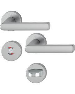 Dörrtrycke Hoppe Hamburg med toalettbehör - F9 Aluminium (Rostfri nyans)
