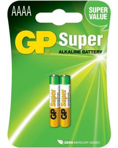 Engångsbatteri GP Super AAAA - 2-pack