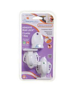 Magnetlås till lådor och skåp Dreambaby självhäftande 2-pack - Förpackning