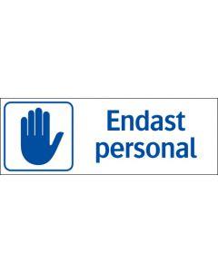 Endast personal