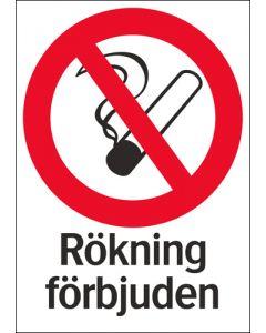 Rökning förbjuden
