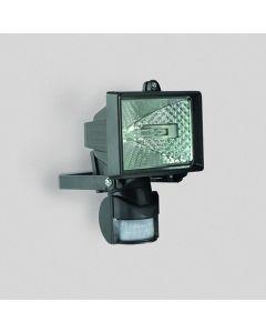 Strålkastare med rörelsedetektor Spectra Miniflood 150W - Svart