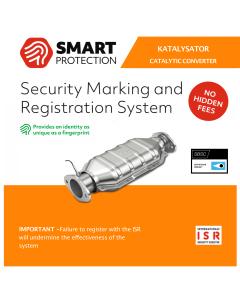 Stöldskyddsmärkning Smart Protection ISR till katalysatorer