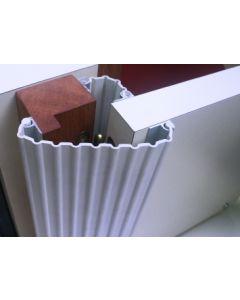 Klämskydd extra bred för inner- och ytterdörr - Ljusgrå