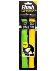 Reflexband Flash med LED belysning 2-pack