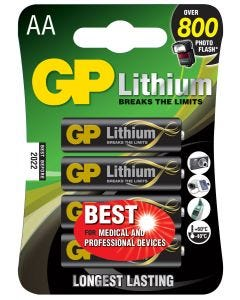 Lithiumbatteri GP Batteries AA - 4-pack