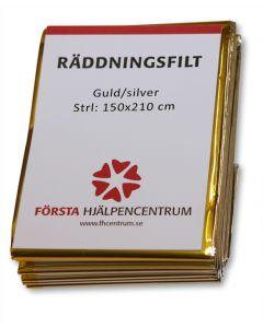 Räddningsfilt 'Guld/Silver'