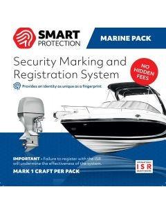 Stöldskyddsmärkning Smart Protection ISR till båtar och båtmotorer