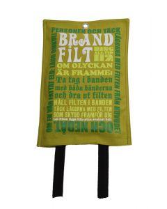Brandfilt Lotta Friberg Design Green & White