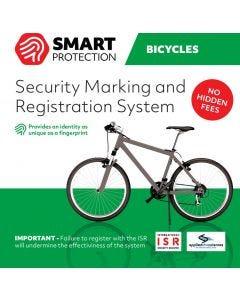 Stöldskyddsmärkning Smart Protection ISR till cyklar, sparkcyklar, barnvagnar