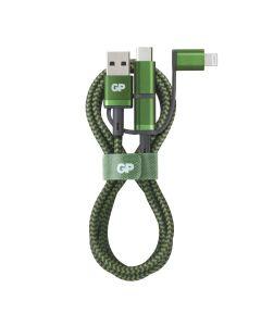 Premium USB-kabel GP 3-i-1 - USB-A till USB-C, Micro-USB och Apple Lightning