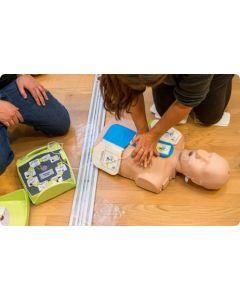 Utbildning i Hjärt-Lung Räddning (HLR) med defibrillator (AED)