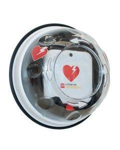 Väggskåp till defibrillator ROTAID Solid Plus Värme med larm för utomhusbruk