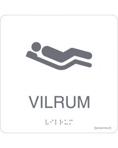 "Taktil skylt ""Vilrum Vit"