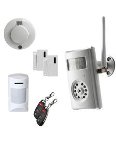Övervakningspaket med kameralarm YOYOCam G33, rörelsevakt, brandvarnare, magnetkontakt och fjärrkontroller