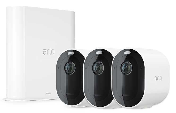 Trådlöst videoövervakningssystem Arlo Essential - Startpaket med 3 kameror - Vit